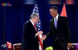 Nguyên thủ Mỹ và Cuba lần đầu tiên gặp mặt tại Mỹ