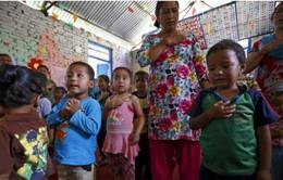 Sau thảm họa động đất, trẻ em Nepal trở lại trường học