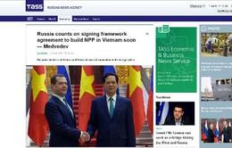 Báo Nga viết về chuyến thăm Việt Nam của Thủ tướng Medvedev