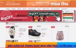 Siêu giảm giá trong Ngày mua sắm trực tuyến mùa thu