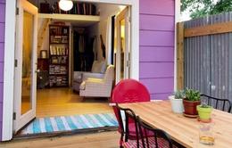 Ngắm ngôi nhà nhỏ mang tông màu tím thơ mộng
