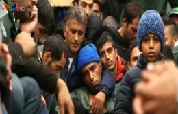 Hơn 2.000 người di cư mắc kẹt dưới mưa ở biên giới Hy Lạp - Macedonia