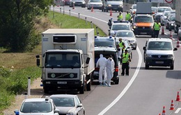 Phát hiện thêm xe tải chở 26 người di cư tại Áo