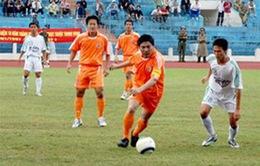 Một số hình ảnh củađồng chí Nguyễn Bá Thanh trên sân bóng