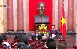 Phó Chủ tịch nước Nguyễn Thị Doan gặp gỡ Đoàn đại biểu Hội đồng Doanh nhân gia đình VN