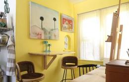 Ngôi nhà sinh động với mảng tường màu nắng