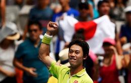 """""""Phá đám"""" nhóm Big Four, Kei Nishikori vẫn chưa hài lòng"""