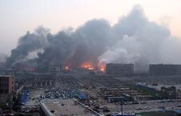 Trung Quốc xây đê quay ngăn nước ô nhiễm ở vụ nổ Thiên Tân