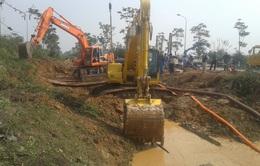 Hoàn thành việc sửa chữa đường ống nước sông Đà