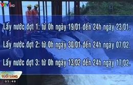 Bắt đầu lấy  nước sản xuất vụ Đông Xuân