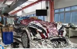 Độc đáo xe ô tô làm từ 25.000 chiếc điện thoại di động
