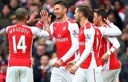 Arsenal 5-0 Aston Villa: Thắng giòn trong ngày vắng Sanchez