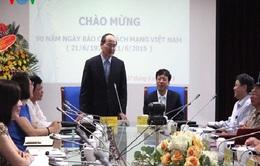 Chủ tịch MTTQVN Nguyễn Thiện Nhân thăm, chúc mừng VOV nhân dịp 21/6