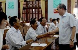 Chủ tịch MTTQVN Nguyễn Thiện Nhân tiếp xúc cử tri tại Bắc Giang