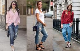Quần Jeans dáng Boyfriend  - Làm sao mặc cho đẹp?