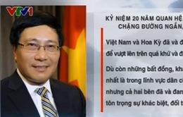 Kỷ niệm 20 năm quan hệ Việt Nam - Hoa Kỳ: Chặng đường ngắn, bước tiến dài