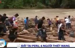 Lở đất tại Peru, 6 người thiệt mạng