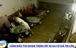 Cảnh báo thủ đoạn trộm cắp xe ga trên địa bàn Hà Nội