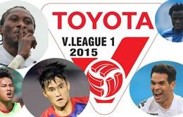 Lịch thi đấu và tường thuật vòng 23 V.League 2015