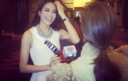 Hoa hậu Phạm Hương không buồn về kết quả tại Hoa hậu Hoàn Vũ 2015