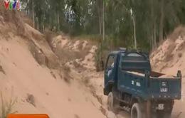 Phú Yên: Tái diễn nạn khai thác cát trái phép