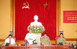 Phó Thủ tướng Nguyễn Xuân Phúc làm việc với Đảng ủy Công an Trung ương