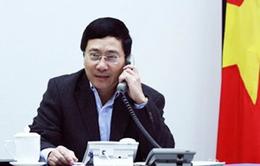 Phó Thủ tướng Phạm Bình Minh điện đàm với Ủy viên Quốc vụ Trung Quốc