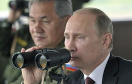 Tổng thống Nga thị sát cuộc tập trận gần biên giới với Kazakhstan