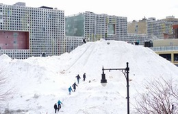 Cận cảnh tai nạn giao thông kinh hoàng do bão tuyết tại Mỹ