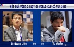 World Cup Cờ vua 2015: Lê Quang Liêm hòa kỳ thủ hạng 9 thế giới