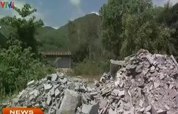 Bình Định: Ô nhiễm môi trường nghiêm trọng do bột đá