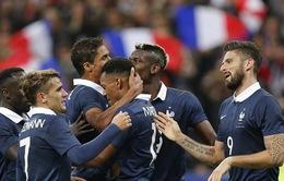 Không tuyển thủ Pháp nào xin rút lui trước trận giao hữu trên đất Anh