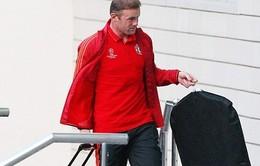 Rooney tay xách nách mang vào khách sạn siêu sang