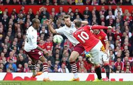 Ghi tuyệt phẩm, Rooney chứng tỏ duyên ghi bàn vào lưới Aston