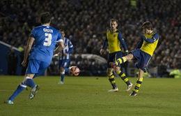 Pha volley ngoạn mục của Rosicky vào lưới Brighton ở FA Cup