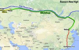 Nga xây dựng tuyến đường sắt cao tốc nối Moscow với Bắc Kinh