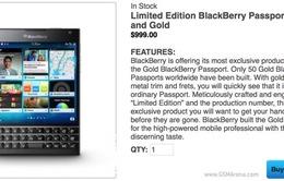 BlackBerry Passport phiên bản Gold với số lượng có hạn?