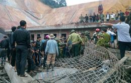 Hiện trường vụ sập giàn giáo cây xăng tại Hà Tĩnh