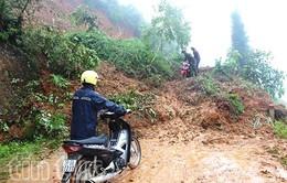 Mưa lớn gây sạt lở tại Hà Giang