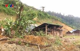 Quảng Nam: Sạt lở đất vùi lấp hoàn toàn 1 nhà dân