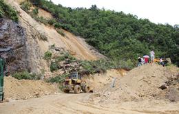 Khắc phục sự cố sạt lở Quốc lộ 4D ở Lai Châu