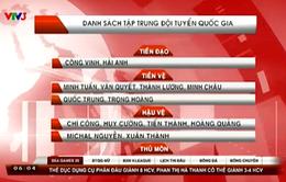HLV Miura công bố 18 cầu thủ tập trung ĐTQG