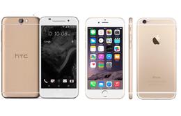 """HTC One A9 cạnh tranh """"cơn sốt"""" vàng hồng của iPhone 6S?"""