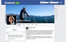 Tổng thống Mỹ chính thức có fanpage trên Facebook