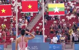 SEA Games 28: Rơi lệ khi chào cờ Tổ quốc cùng VĐV Đào Văn Thủy