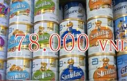 Giá sữa trẻ em tại nhiều cửa hàng vẫn vượt trần