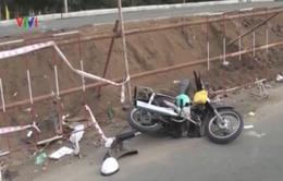 Tai nạn nghiêm trọng do thi công sửa đường không cóbiển cảnh báo