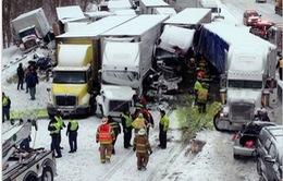 Anh: 40 ôtô va chạm liên hoàn trên đường cao tốc