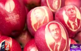 Thú vị những quả táo mang logo chào mừng hội nghị COP-21
