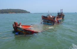 Chìm tàu câu mực:Toàn bộ lao động đang được đưa về Nha Trang